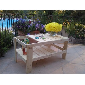 Table basse de salon de jardin en palette - Table basse pour salon de jardin ...